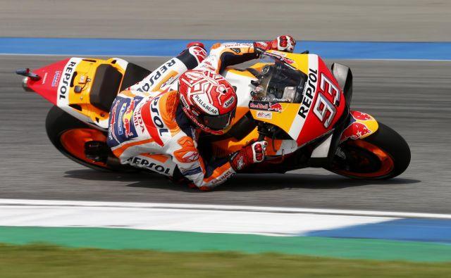 Marc Marquez si lahko ta konec tedna na Tajskem že zagotovi naslov svetovnega prvaka. FOTO: Reuters