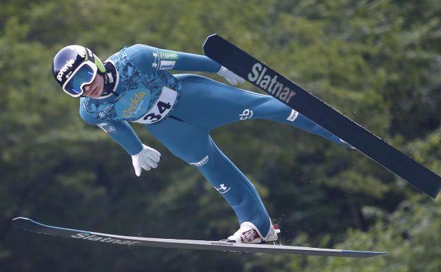 Anže Lanišek je poletel do odmevne zmage v Klingenthalu. FOTO: Roman Šipić