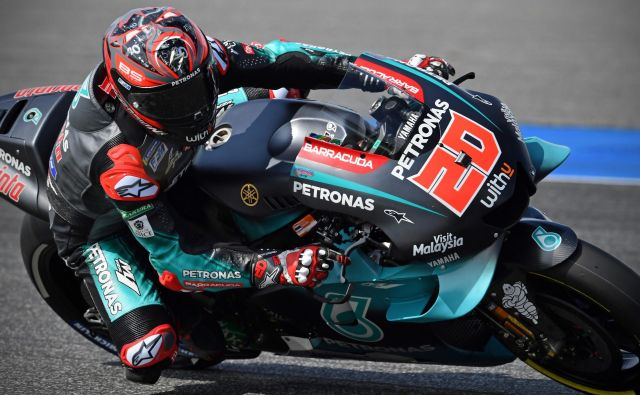 Fabio Quartararo bo z najboljšega položaja začel 15. dirko motociklističnega svetovnega prvenstva v elitnem razredu motoGP. FOTO: Lillian Suwanrumpha/AFP
