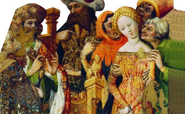 Podoba sv. Barbare iz cerkve v finski vasi Kalanti je nastala po letu 1420. Podoba sv. Barbare in njenega očeta naj bi bila portret Sigismunda Luksemburškega in Barbare Celjske. FOTO: arhiv Celjske Mohorjeve družbe