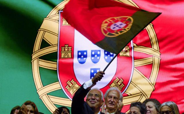 Največ glasov so, po pričakovanjih, dobil socialisti premiera Antónia Coste. FOTO: Miguel Riopa/AFP