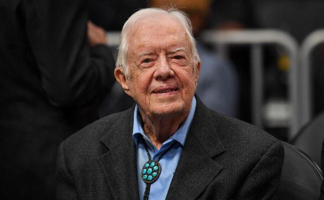 S 95 leti je Jimmy Carter najstarejši živeči ameriški predsednik. FOTO: Reuters