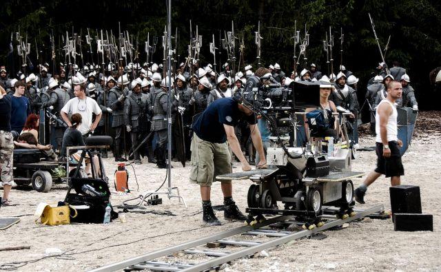 Prizor s snemanja filma Zgodbe iz Narnije: Princ Kaspijan iz leta 2007. Foto Pakt Media