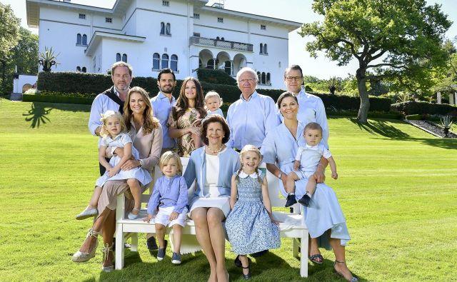 Švedska kraljeva družina leta 2017. FOTO: Švedski kraljevi dvor