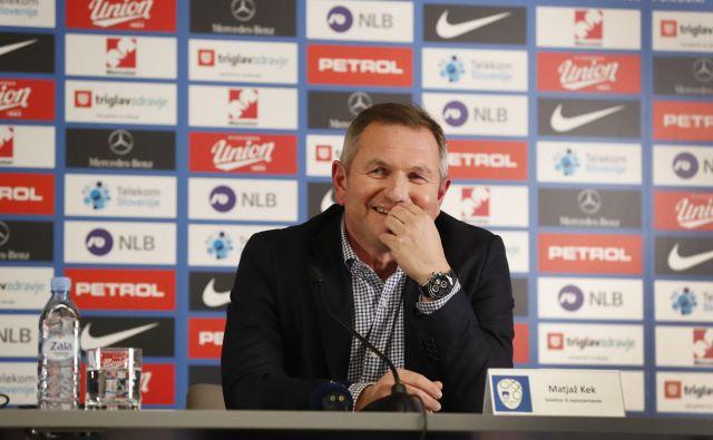 Matjaž Kek se zaveda zahtevnosti tekme proti Makedoncem, ki so slovenski reprezentanci v Ljubljani povzročali veliko preglavic. FOTO: Leon Vidic/Delo