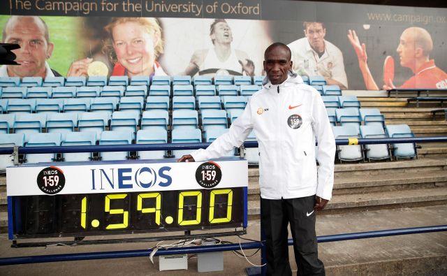 Eliud Kipchoge je odločen, da bo postal prvi človek, ki bo maraton pretekel pod dvema urama. FOTO: Andrew Boyers/Reuters