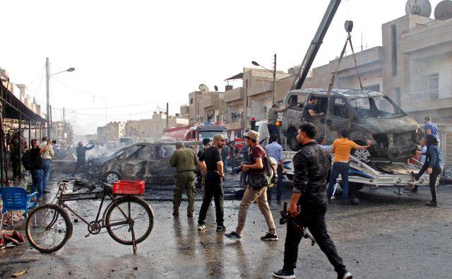 Izkušeni opazovalci opozarjajo, da bo turška invazija na severno Sirijo Erdoğana pahnila v popolno izolacijo. FOTO: Mohammed Ahmad/AFP