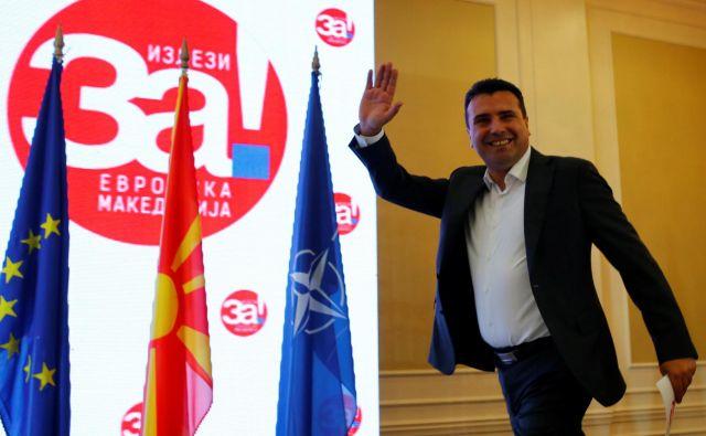 Premier Zoran Zaev je vse stavil na približevanje Severne Makedonije k EU in Natu. FOTO: Ognen Teofilovski/Reuters
