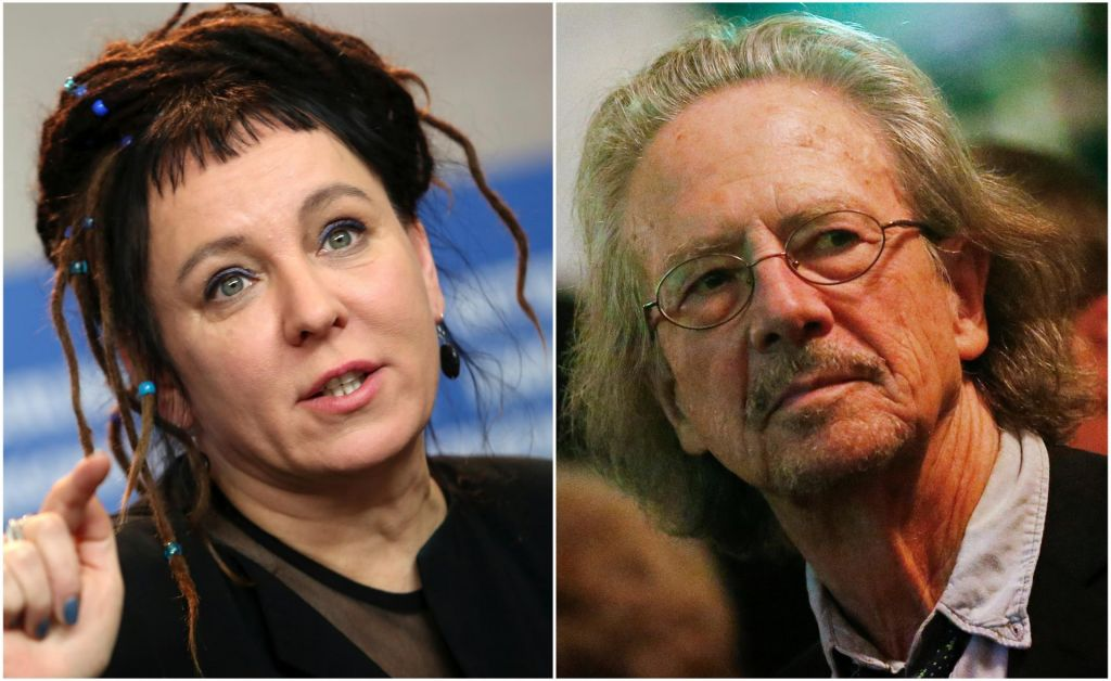 FOTO:Nobelovi nagradi za književnost prejmetaOlga Tokarczuk in Peter Handke