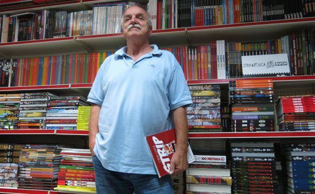 Ciril Gale bi z novo knjigo »rad ozavestil ljudi, da strip lahko prinaša tudi globlja umetniška sporočila«. Foto Zdenko Matoz