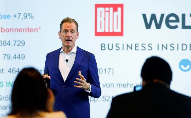 FOTO: Reuters: Mathias Döpfner bo moral bistveno prestrukturirati največjega evropskega založnika.