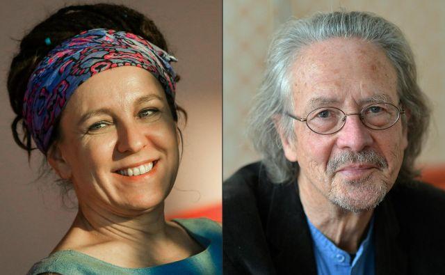 Švedska akademija je odločila. Nobelovi nagradi za književnost za leti 2018 in 2019 prejmeta PoljakinjaOlga Tokarczukin Avstrijec slovenskega roduPeter Handke.FOTO: Barbara Gindl/Afp