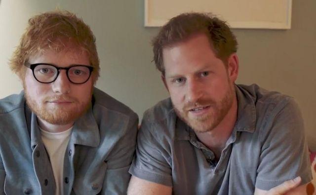 Ed Sheeran in princ Harry Foto Instagram