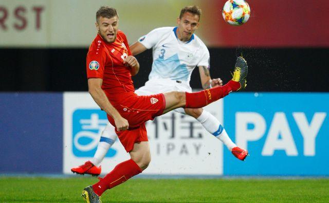 Slovenska reprezentanca je doslej na vseh treh gostovanjih v Skopju potegnila krajši konec. FOTO: Reuters