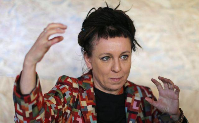 Poljska pisateljica Olga Tokarczuk letos marca na knjižnem festivalu Mesto knjige v Novi Gorici. Foto Tomi Lombar