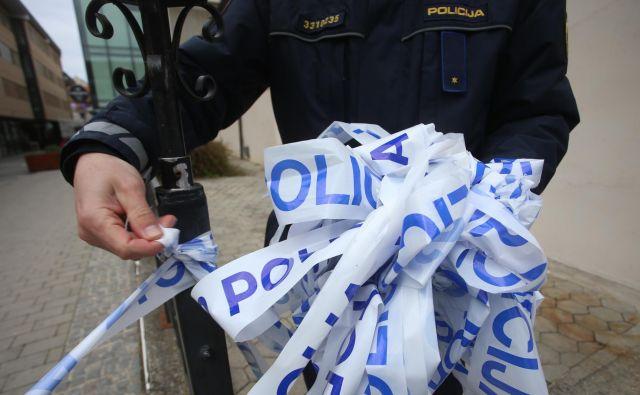 Enega od roparjev so prijeli. FOTO: Tadej Regent/Delo
