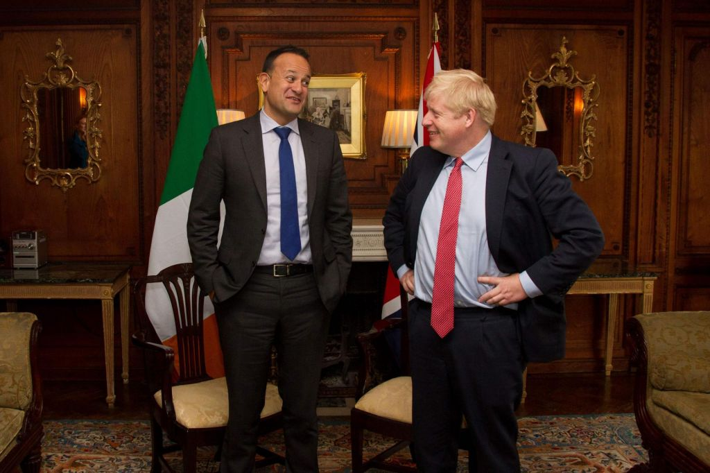 Boris Johnson in Leo Varadkar »vidita pot« iz slepe ulice