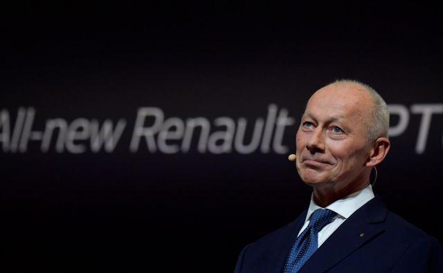 Thierry Bolloré je bil predolgo Ghosnova desna roka, da bi lahko bil še naprej v vrhu Renaulta. FOTO: Tobias Schwarz/AFP