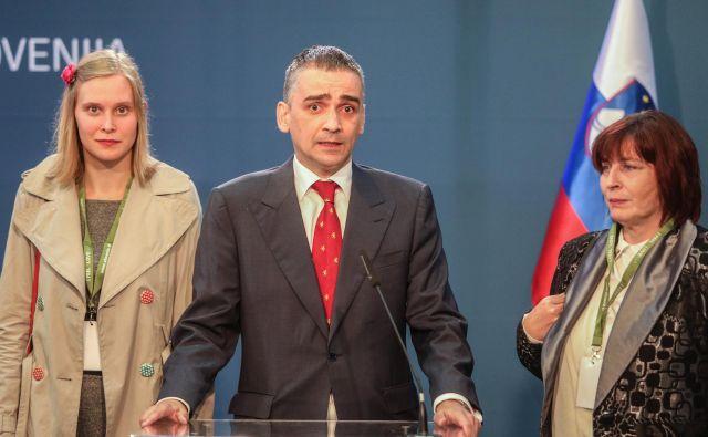 Norma Korošec in Bernard Brščič ostajata del Domovinske lige, med tem ko se je Lucija Šikovec Ušaj že poslovila in izstopila iz stranke. FOTO: Voranc Vogel/Delo