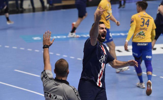 Nikola Karabatić se je takole veselil zmage proti Celju, ki ni bila tako lahka, kot govori končni izid. FOTO: PSG