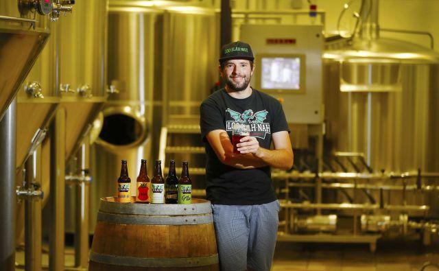 Domen Srebot, partner in glavni varilec Loo-blah-nah, zmagovalke naše akcije Naj kraft pivovarji. FOTO: Leon Vidic