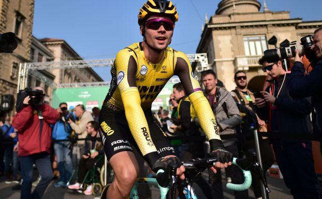 Primož Roglič je dirko po Lombardiji končal na 7. mestu, sezono pa na 1. mestu svetovne lestvice. FOTO: AFP