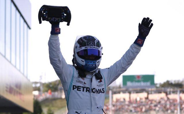 Valtteri Bottas se je veselil zmage na Japonskem. FOTO: Reuters