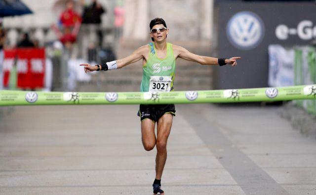 Puhar Rok, zmagovalec teka na 21km ,Ljubljana, 28.10.2018 Foto Roman Šipić/Delo