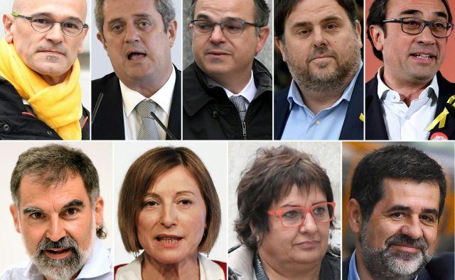 Špansko vrhovno sodišče je devet od 12 independentističnih voditeljev obsodilo na zaporne kazni. Foto: Pau Barrena/Afp