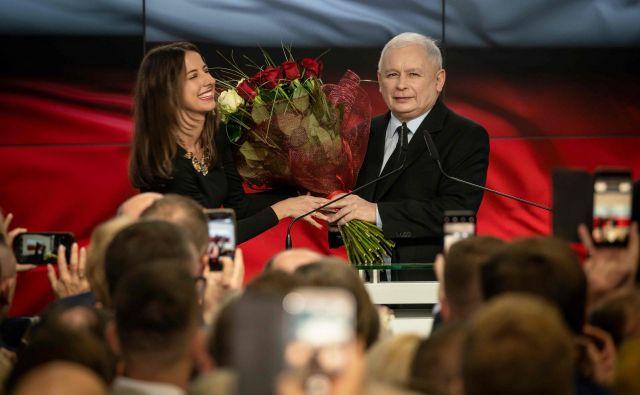 Vodja stranke PiS Jaroslaw Kaczynski. FOTO: AFP