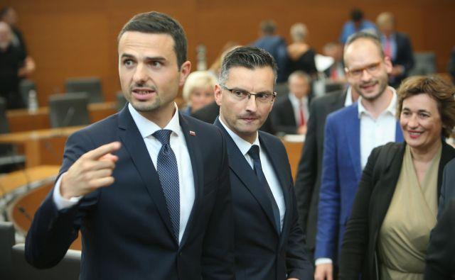 Predsednik Knovsa Matej Tonin opozarja, da bi žvižgač iz Sove informacije lahko posredoval tudi javnosti. FOTO: Jure Eržen