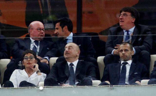 Predsednik Uefa Aleksander Čeferin (spodaj desno) in njegovo vodstveno moštvo v naslednjih tednih čakajo precej pestre »politične« razaprave. FOTO: Reuters