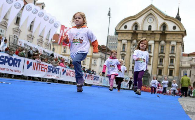 Lumpijev tek na Ljubljanskem maratonu. Foto Uroš Hočevar