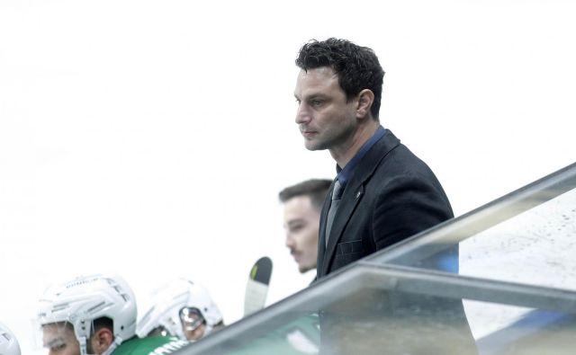 Trener Ljubljančanov Gregor Polončič se je odlično znašel v vlogi trenerja. FOTO: Mavric Pivk/Delo