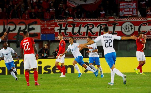 Izraelski napadalec Eran Zahavi je daleč najboljši strelec celotnih kvalifikacij za evropsko prvenstvo. FOTO: Reuters