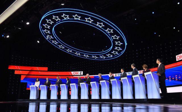 Demokratski predsedniški kandidati v Ohiu. FOTO: Saul Loeb/AFP