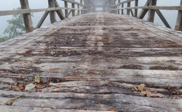 Litijski občini je most čez Savo dobesedno zgnil. FOTO: Bojan Rajšek/Delo