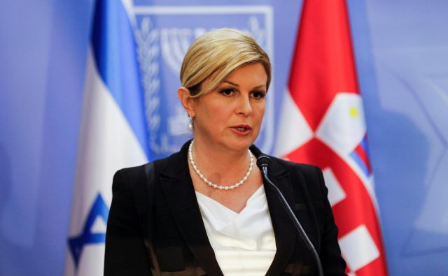 Predsednica Kolinda Grabar-Kitarović je izrazila zgroženost zaradi spolne zlorabe in izsiljevanja mladoletnice. FOTO: Menahem Kahana/Reuters