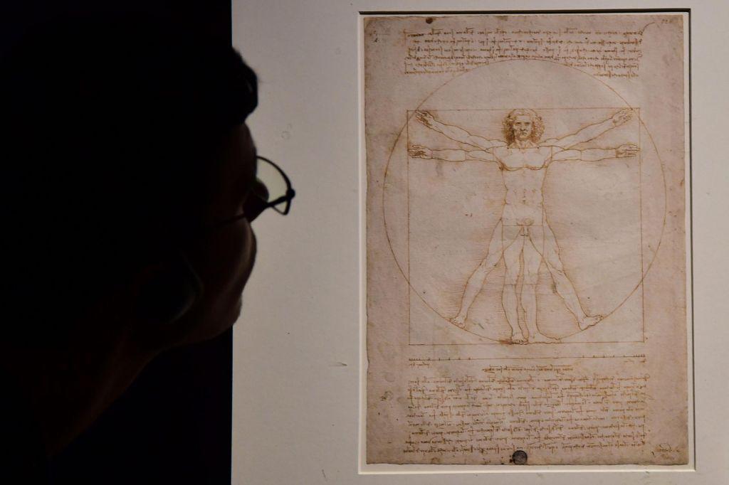 Vitruvijski človek bo vendarle odpotoval v Louvre