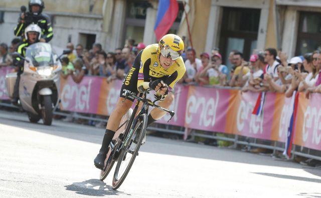 Primož Roglič bo imel na Touru na voljo le 36 km vožnje na kronometer. FOTO: Leon Vidic/Delo