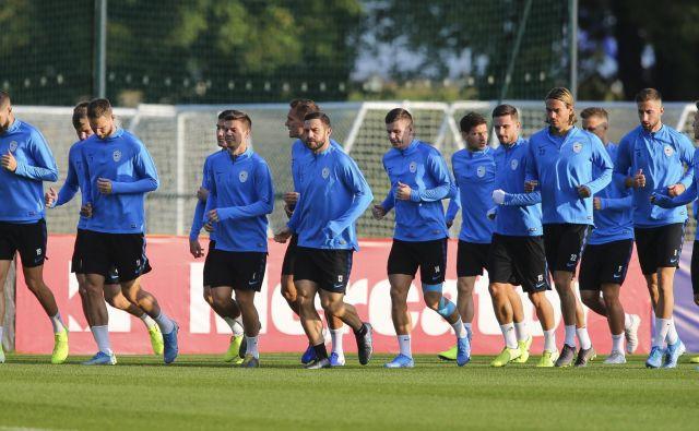 Trening slovenske nogometne reprezentance. FOTO: Jože Suhadolnik/Delo