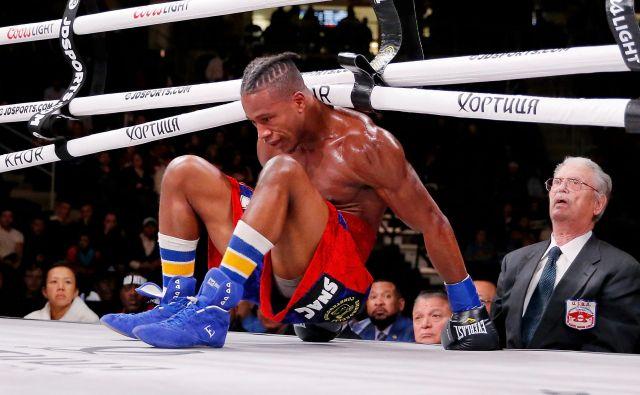 Ameriški boksar Patrick Day (na fotografiji) je podlegel možganskim poškodbam, ki jih je staknil med nedeljskim obračunom z rojakom Charlesom Conwellom.<strong> </strong>FOTO: Usa Today Sports