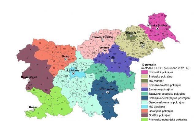 Najnovejši osnutek pokrajinske zakonodaje predvideva deset pokrajin, za Ljubljano in Maribor pa poseben status. FOTO: Arhiv Delovne skupine za pripravo pokrajinske zakonodaje