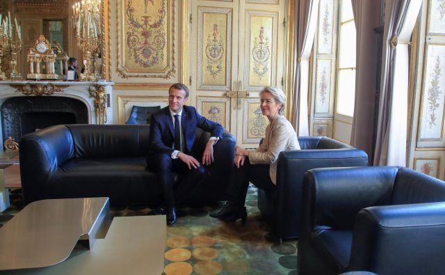 Odnosi med Emmanuelom Macronom in Ursulo von der Leyen tačas niso bleščeči<br /> FOTO: Reuters