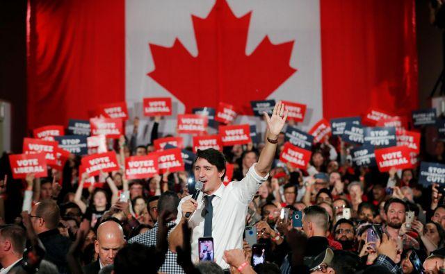 Kanadski premier Justin Trudeau se bori za ponoven mandat.<br /> FOTO: Reuters