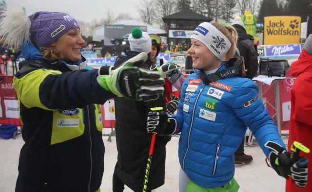 Med slovenskimi dekleti gre v Söldnu, kjer ne bo Ilke Štuhec, največ pričakovati od Mete Hrovat. FOTO: Tadej Regent/Delo