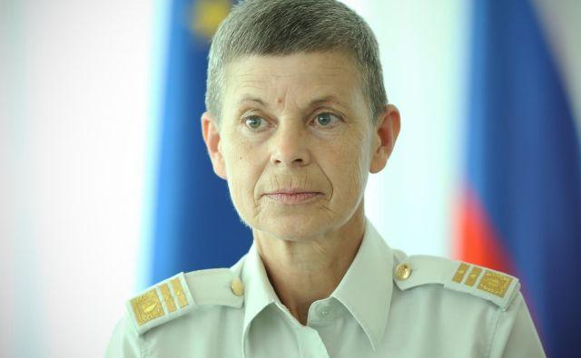 Ermenčeva je predlog za kazenski pregon vojaški policiji podala 17. maja 2019, ker naj bi Škerbinc s komentiranjem zdravstvenega stanja škodoval njenemu dobremu imenu. FOTO: Jure Eržen/Delo
