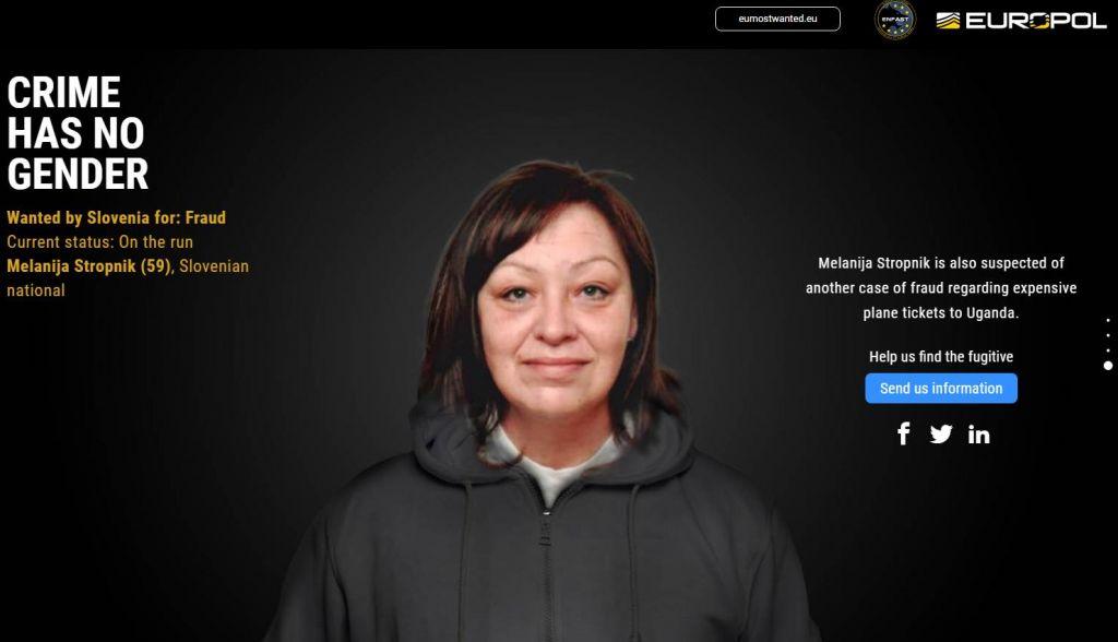 Nova domiselna kampanja: Na Europolovem seznamu najbolj iskanih tudi Slovenka