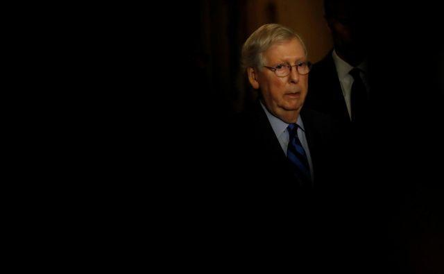 Republikanski voditelj v senatu Mitch McConnell. Foto Carlos Jasso Reuters