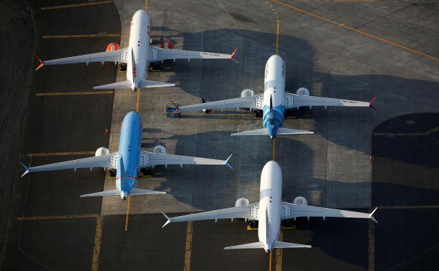 Boeingova letala na letališču Moses Lake.Foto Lindsey Wasson Reuters